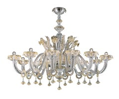 Agadir 5384 12 Chandelier in Glass, by Barovier&Toso