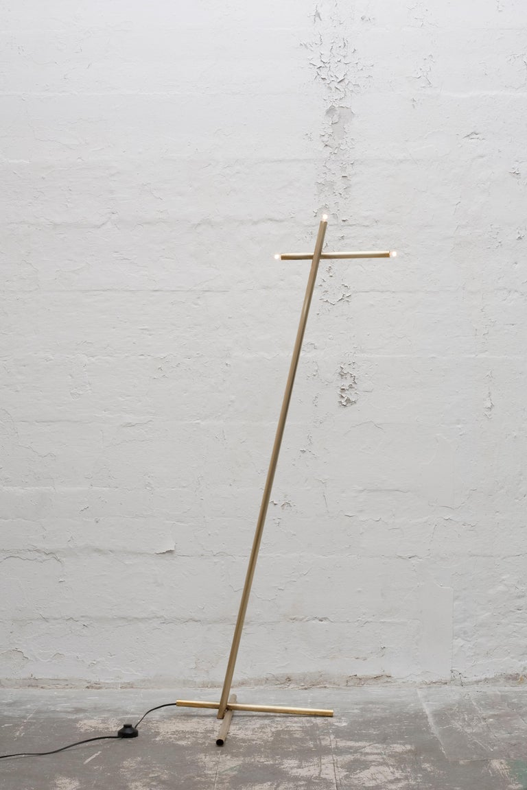 For Sale: Gold (Burnished Brass) Pick Up Stick Floor Lamp in Brass by Cam Crockford 2