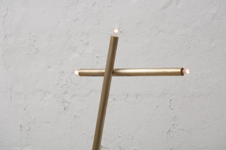 For Sale: Gold (Burnished Brass) Pick Up Stick Floor Lamp in Brass by Cam Crockford 3
