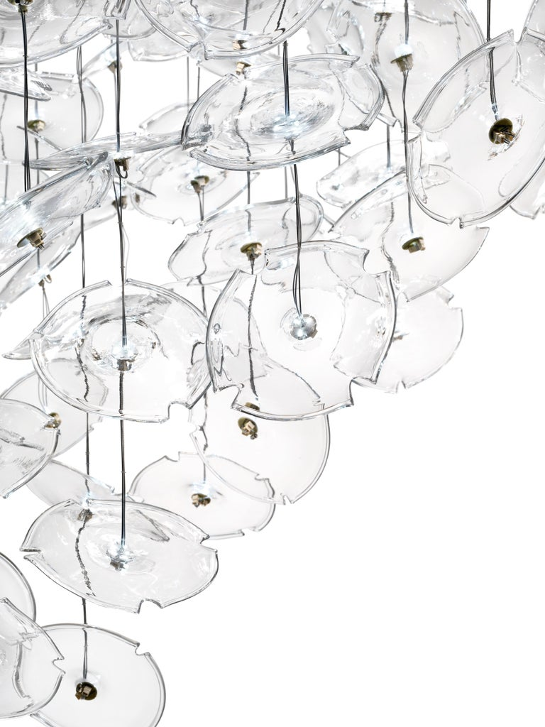 For Sale: Clear (Crystal_CC) Exagon 7128 Suspension Lamp in Glass with Polished Chrome, by Barovier&Toso 2