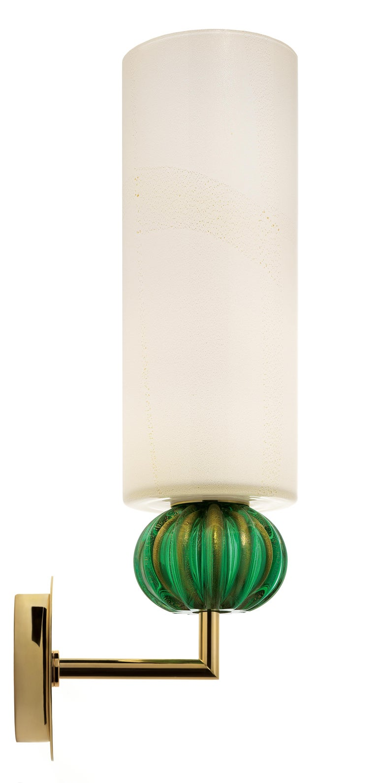 For Sale: Green (Beige Gold/Gold Green_OW) Gallia 5627 Wall Sconce in Glass, by Barovier & Toso 2