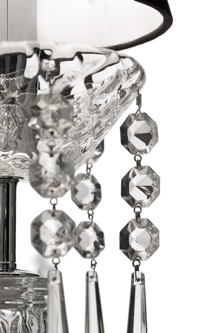 For Sale: Clear (Crystal_CC) President 5695 24 Chandelier in Glass with Black Shade, by Barovier&Toso 2