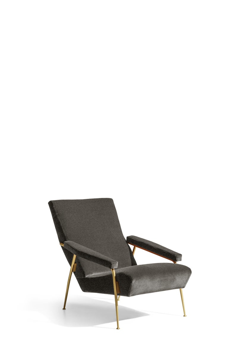 For Sale: Black (WF395_Anthracite) Molteni&C D.153.1 Armchair in Chenille by Gio Ponti 2