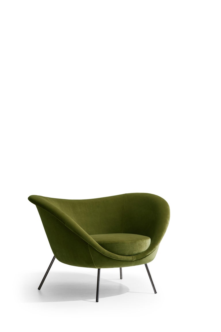 For Sale: Green (W6242_Green) Molteni&C D.154.2 Armchair in Velvet by Gio Ponti 2