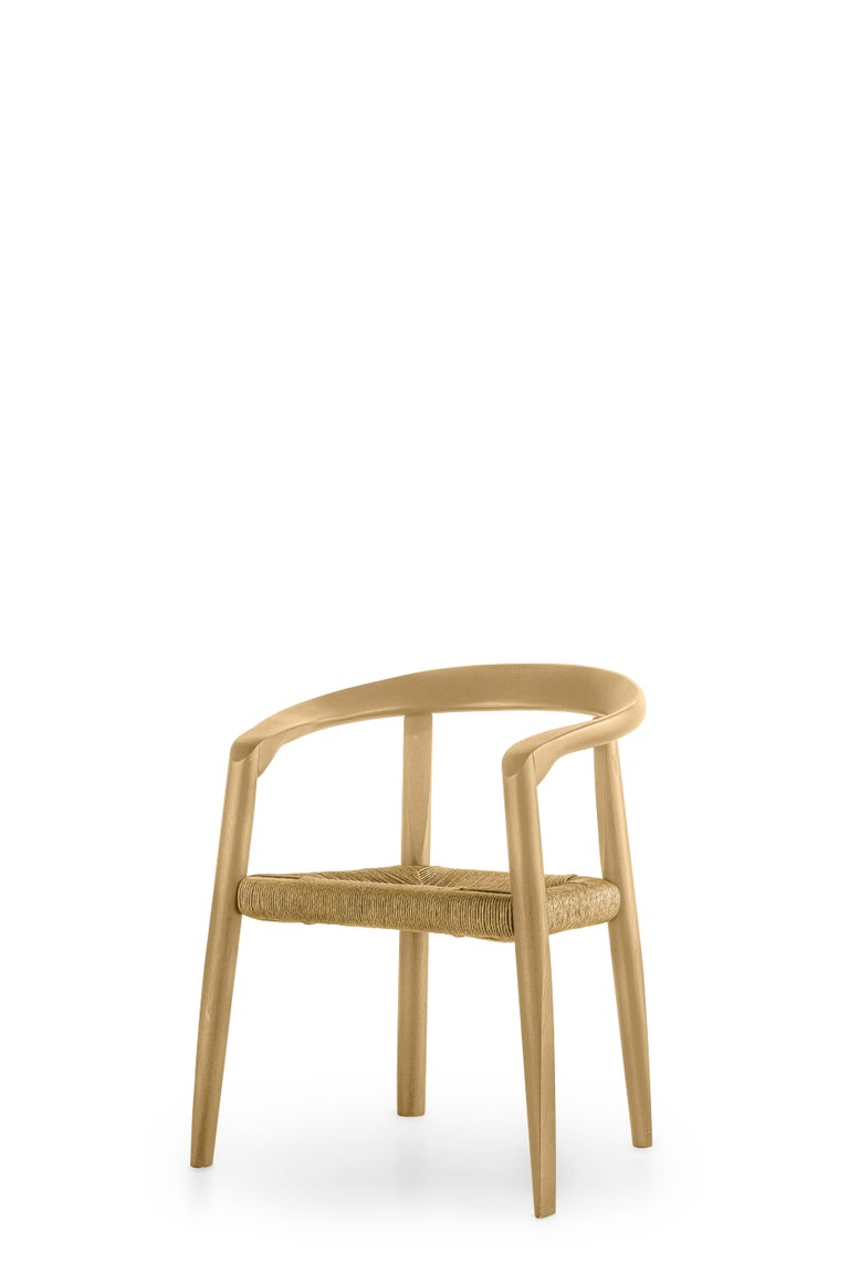 For Sale: Beige (EC_ecru) Molteni&C Miss Woven Dining Chair in Natural Ashwood by Tobia Scarpa 2