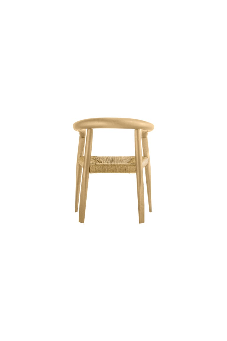 For Sale: Beige (EC_ecru) Molteni&C Miss Woven Dining Chair in Natural Ashwood by Tobia Scarpa 3
