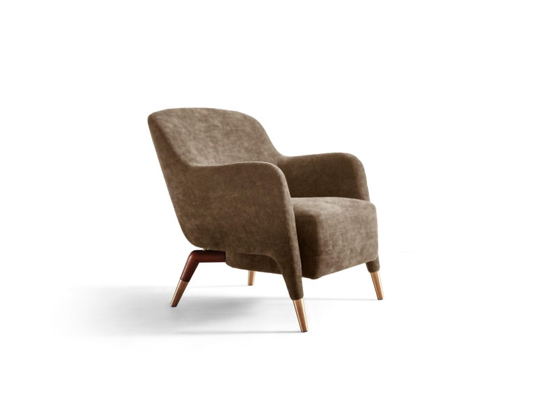 For Sale: Brown (SD935_Taupe) Molteni&C D.151.4 Armchair in Leather by Gio Ponti 2