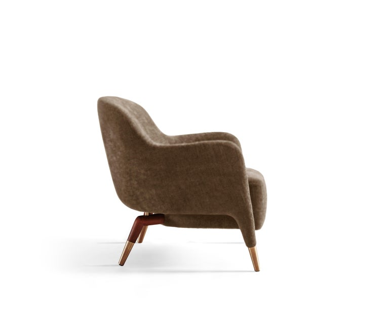 For Sale: Brown (SD935_Taupe) Molteni&C D.151.4 Armchair in Leather by Gio Ponti 3