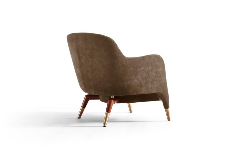 For Sale: Brown (SD935_Taupe) Molteni&C D.151.4 Armchair in Leather by Gio Ponti 4