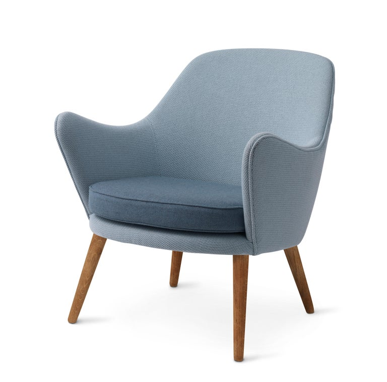 For Sale: Blue (Merit014/Rewool 768) Dwell Lounge Chair, by Hans Olsen from Warm Nordic 2