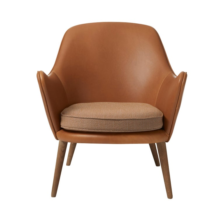 For Sale: Brown (Silk 0250) Dwell Lounge Chair, by Hans Olsen from Warm Nordic