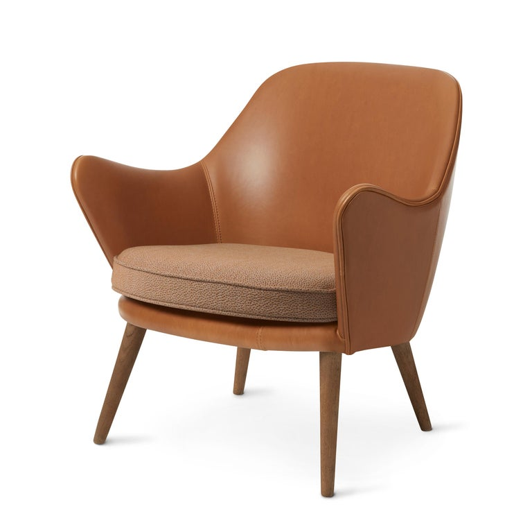 For Sale: Brown (Silk 0250) Dwell Lounge Chair, by Hans Olsen from Warm Nordic 2