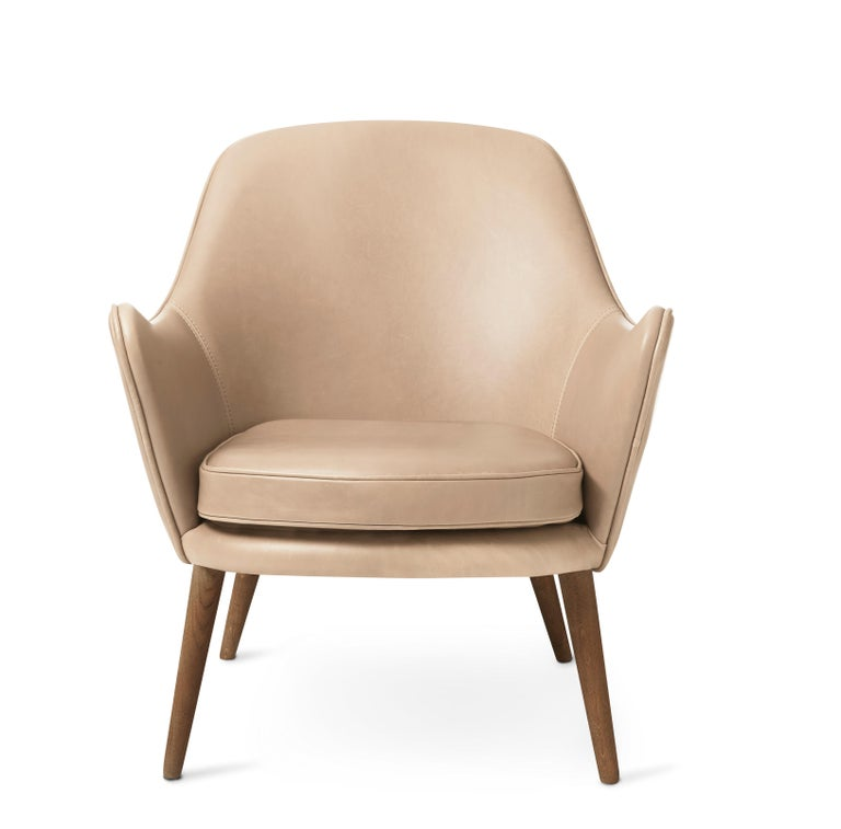 For Sale: Pink (Vegetal 090) Dwell Lounge Chair, by Hans Olsen from Warm Nordic