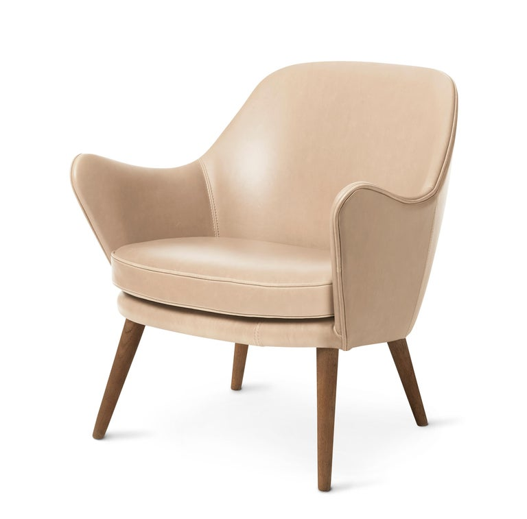 For Sale: Pink (Vegetal 090) Dwell Lounge Chair, by Hans Olsen from Warm Nordic 2