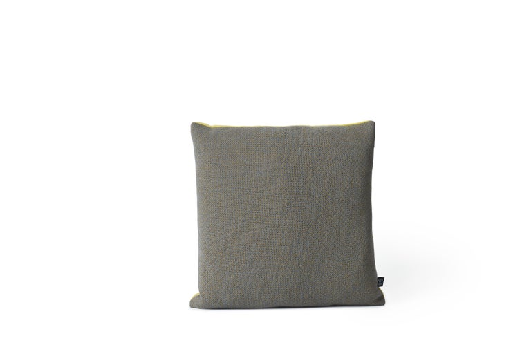 For Sale: Gray (Grey) Moodify Square Cushion, by Warm Nordic