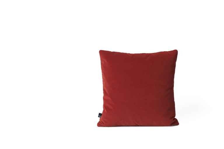 For Sale: Red Moodify Square Cushion, by Warm Nordic