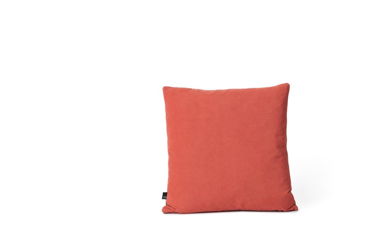 For Sale: Brown (Rusty) Moodify Square Cushion, by Warm Nordic