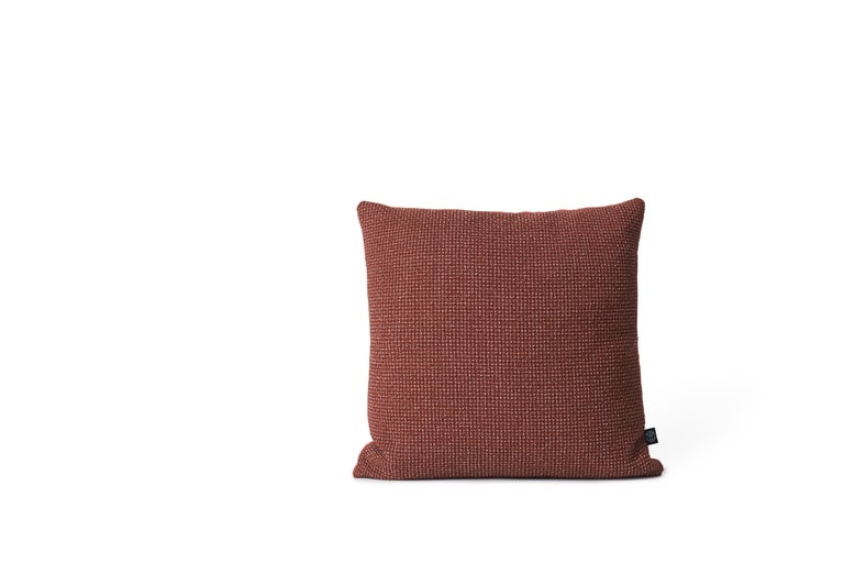For Sale: Brown (Rusty) Moodify Square Cushion, by Warm Nordic 2