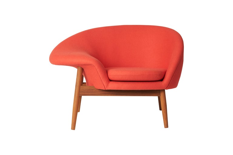 For Sale: Red (Hero 551) Fried Egg Monochrome Chair, by Hans Olsen from Warm Nordic