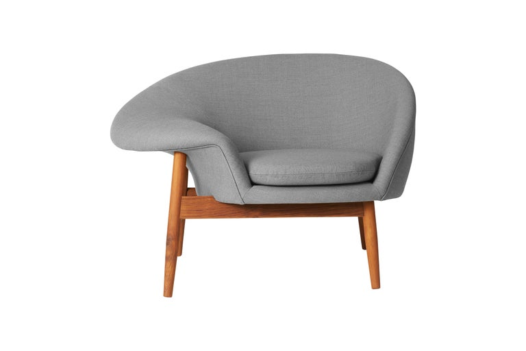 For Sale: Gray (Canvas 134) Fried Egg Monochrome Chair, by Hans Olsen from Warm Nordic