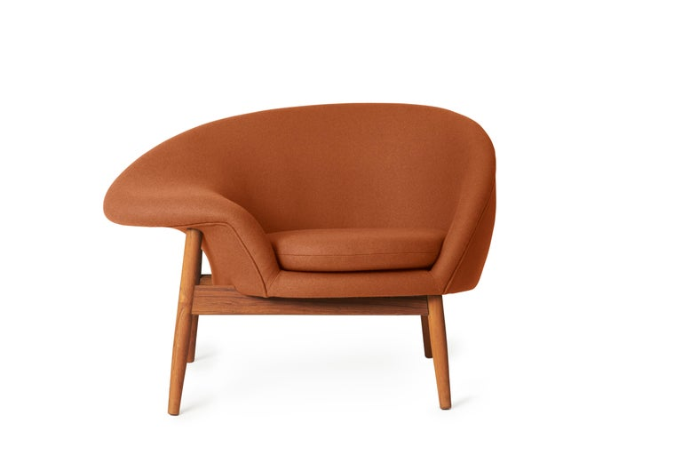 For Sale: Brown (Hero 481) Fried Egg Monochrome Chair, by Hans Olsen from Warm Nordic