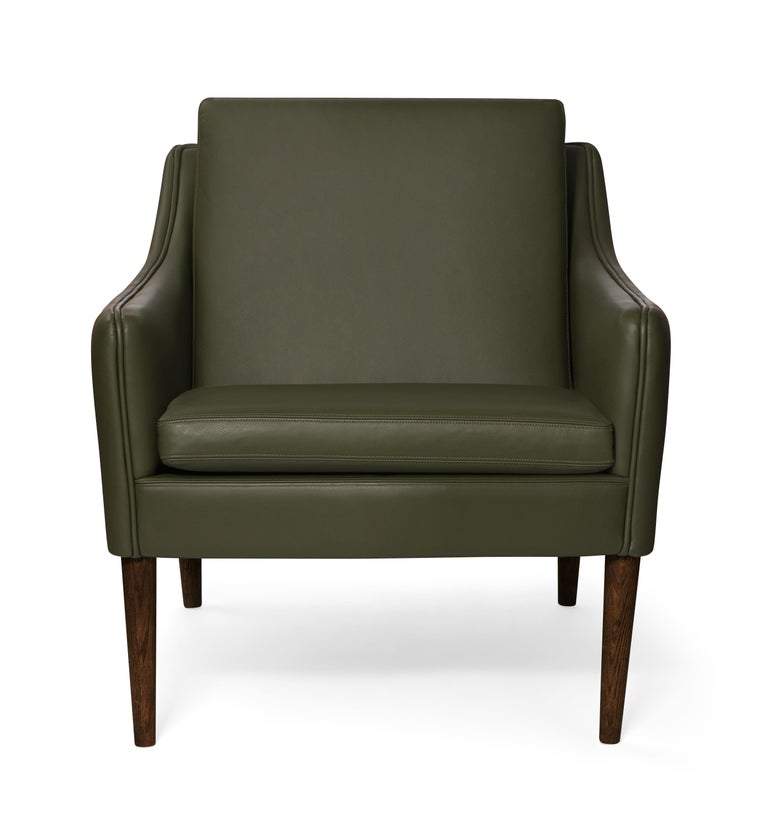 For Sale: Green (Challenger Pickle green) Mr. Olsen Lounge Chair with Walnut Legs, by Hans Olsen from Warm Nordic