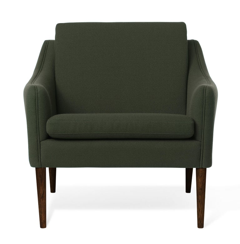 For Sale: Green (Vidar972) Mr. Olsen Lounge Chair with Walnut Legs, by Hans Olsen from Warm Nordic