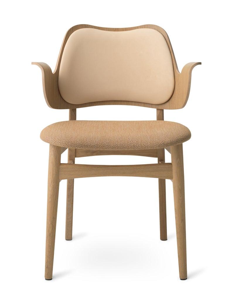 For Sale: Beige (Vegetal/Sprinkles 254) Gesture Two-Tone Fully Upholstered Chair in Oak, by Hans Olsen from Warm Nordic
