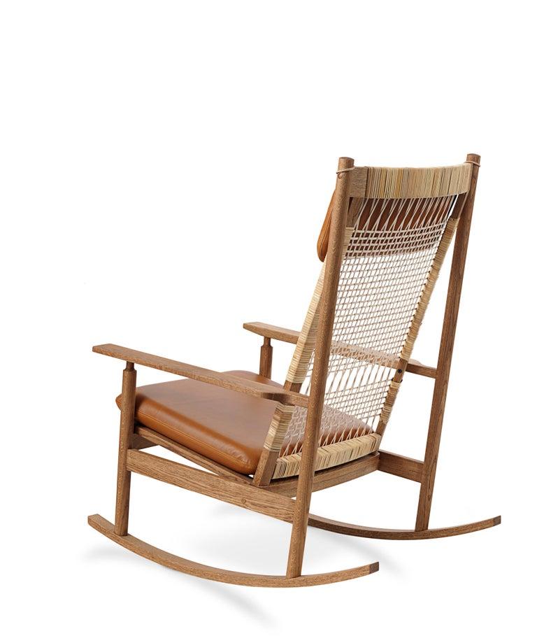 For Sale: Brown (Silk 0250) Swing Rocking Chair in Teak, by Hans Olsen from Warm Nordic 3