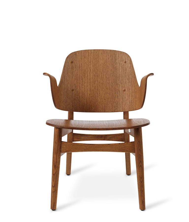 For Sale: Brown (Teak) Gesture Lounge Chair in Pure Wood, by Hans Olsen from Warm Nordic