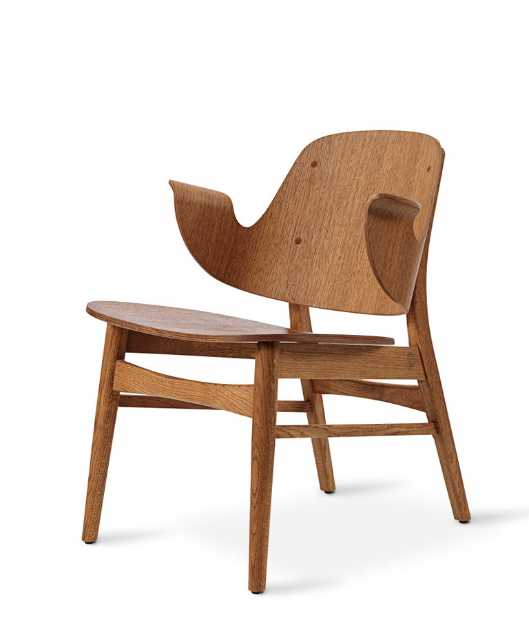 For Sale: Brown (Teak) Gesture Lounge Chair in Pure Wood, by Hans Olsen from Warm Nordic 2