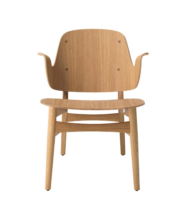 For Sale: Beige (Oak) Gesture Lounge Chair in Pure Wood, by Hans Olsen from Warm Nordic