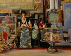 Pastry Counter Onelio Marrero Oil painting on stretched canvas