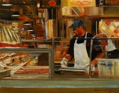 Take Out Onelio Marrero Oil painting on stretched canvas