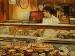 Deli Counter Onelio Marrero Oil painting on stretched canvas