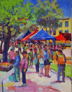 Farmers Market Suren Nersisyan Oil painting on stretched canvas
