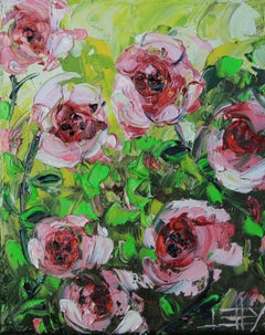 My Garden Song Lisa Elley Oil painting on stretched canvas