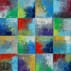 Squares 24 Janet Hamilton Oil painting on stretched canvas