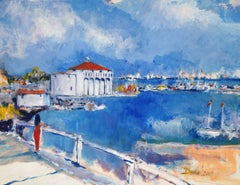 Harbor Gaze, Painting, Acrylic on Other
