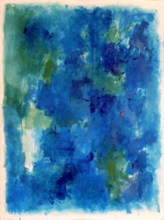 Blue over blue, Painting, Acrylic on Paper
