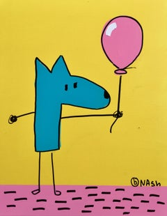 Balthazar and ballon, Painting, Acrylic on Canvas