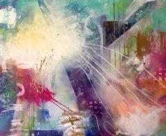 communicaton X, Mixed Media on Canvas