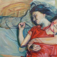 Sleepfulness Abigail Drapkin Oil painting on stretched canvas