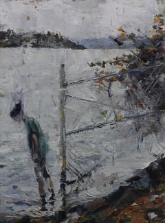 Displacement Abigail Drapkin Oil painting on wood
