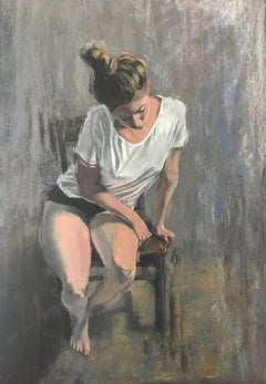 Contemplation Anastasia Pimentel Pastel artwork on paper