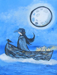 The Raven Child Andrea Doss Acrylic painting on stretched canvas