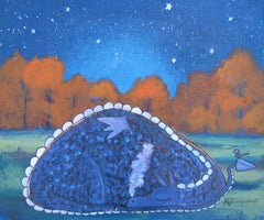 Sleeping Under the Stars Andrea Doss Acrylic painting on stretched canvas