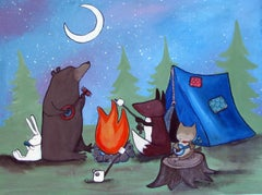 The Camping Trip Andrea Doss Acrylic painting on stretched canvas