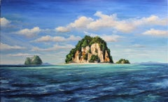 The Island Andres Lopez Oil painting on stretched canvas