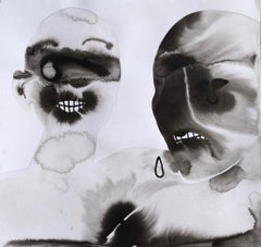 Twins Annelise LaFlamme Ink artwork on paper